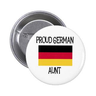 Tía alemana orgullosa pin redondo de 2 pulgadas