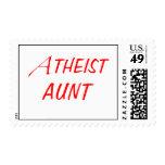 Tía atea Stamps Franqueo