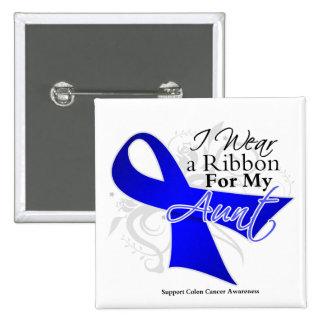 Tía Blue Ribbon - cáncer de colon Pins