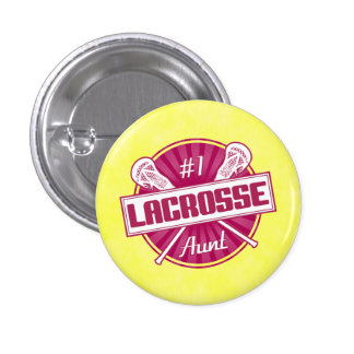 Tía Button de LaCrosse del número 1 Pin Redondo De 1 Pulgada