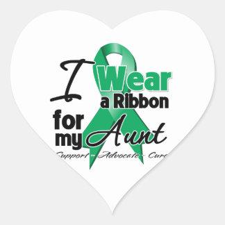 Tía - cáncer de hígado Ribbon.png Pegatina En Forma De Corazón