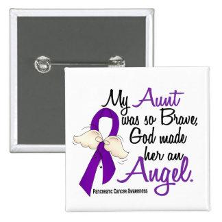Tía cáncer pancreático del ángel 2 pin cuadrado