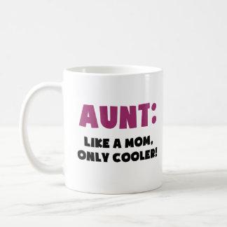 Tía: Como una mamá, solamente más fresca Taza Clásica