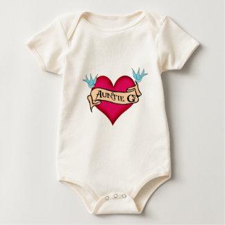 Tía de encargo G Tattoo Heart y regalos de la Body De Bebé