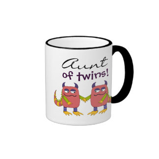 Tía de gemelos taza de dos colores