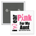Tía de la cinta del rosa de la ayuda del cáncer de pin