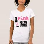 Tía de la cinta del rosa de la ayuda del cáncer de camisetas