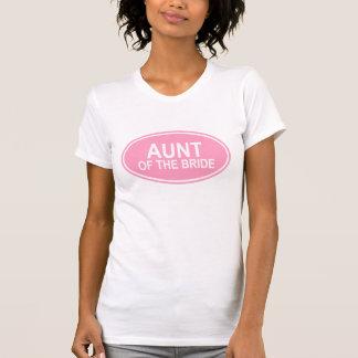 Tía de la novia que casa rosa oval camisetas
