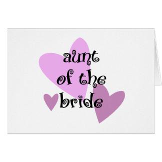 Tía de la novia tarjeta de felicitación