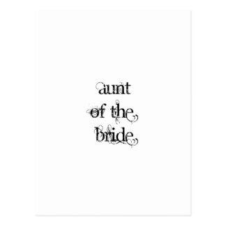 Tía de la novia postal