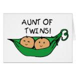 Tía de la vaina de los gemelos felicitacion