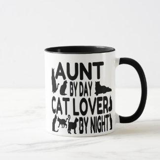 Tía del amante del gato taza
