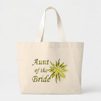 Tía del amarillo de la novia bolsa de mano