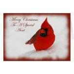 Tía del cardenal de los deseos del navidad tarjetas