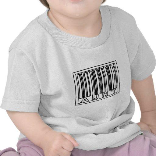 Tía del código de barras camiseta