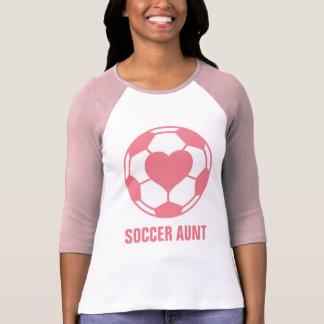 Tía del fútbol playera