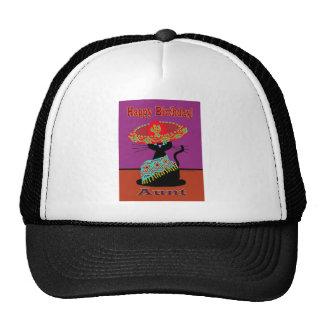 Tía del gato del sombrero gorros bordados