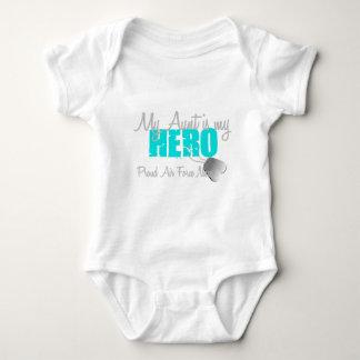 Tía del héroe de la sobrina de la fuerza aérea body para bebé