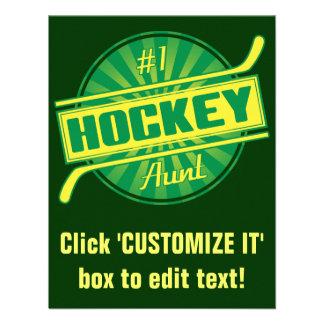 Tía del hockey #1 invitación personalizada