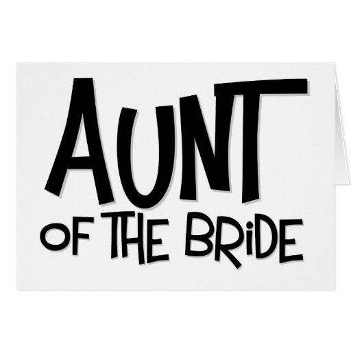 Tía del inconformista de la novia tarjeta