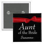 TÍA del nombre rojo del personalizado del boda del Pins