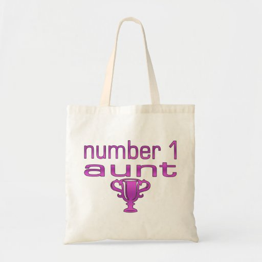 Tía del número 1 bolsas lienzo