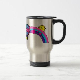 Tía del número uno con el globo y el arco iris taza de café