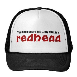 Tía del Redhead Gorro De Camionero