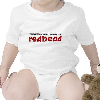 Tía del Redhead Traje De Bebé