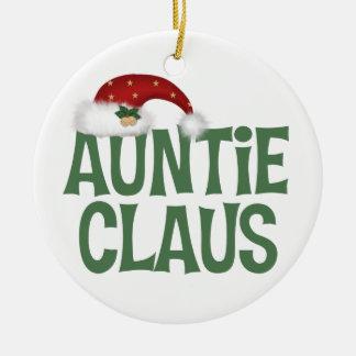 Tía divertida Claus Christmas Ornament Ornato
