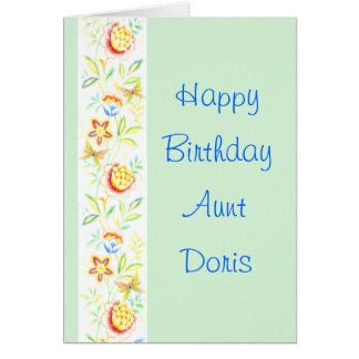 Tía Doris del feliz cumpleaños Tarjeta De Felicitación