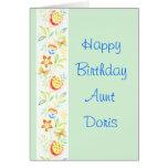 Tía Doris del feliz cumpleaños Tarjetón