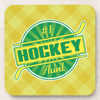 Tía Drinks Coasters del hockey del número 1 Posavasos