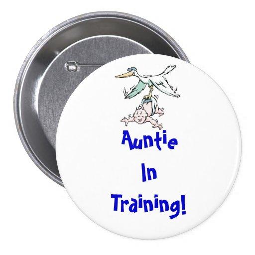 Tía en botón del entrenamiento