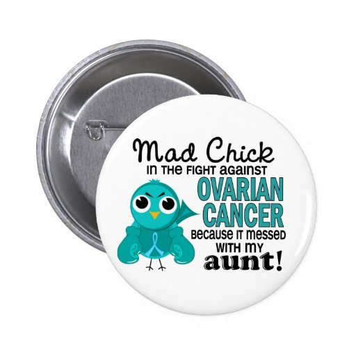 Tía enojada cáncer ovárico del polluelo 2 pin