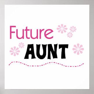 Tía futura Black y camisetas y regalos rosados Póster