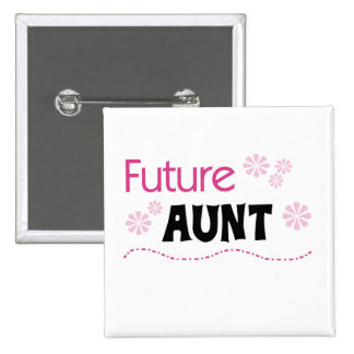 Tía futura Tshirts y regalos Pin