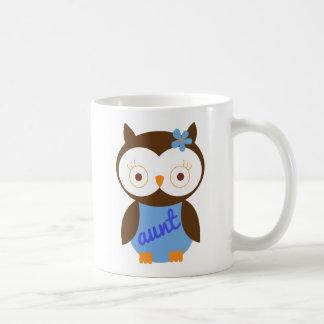 Tía Gift With Owl Taza Básica Blanca