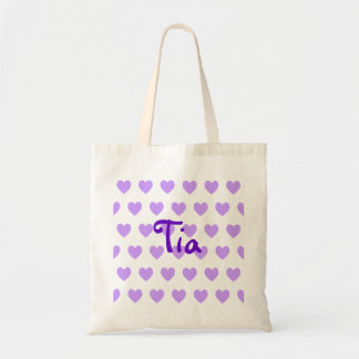 Tia in Purple Tote Bag