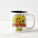Tía increíble del abejorro tazas de café