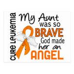 Tía Leukemia del ángel 2 Postal