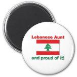 Tía libanesa orgullosa imán de nevera