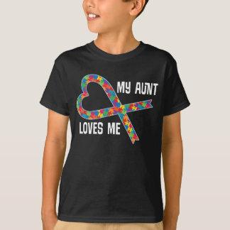Tía Loves Me Shirt de la cinta del rompecabezas de Playera