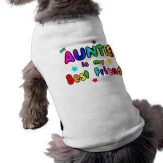 Tía mejor amigo camisetas mascota