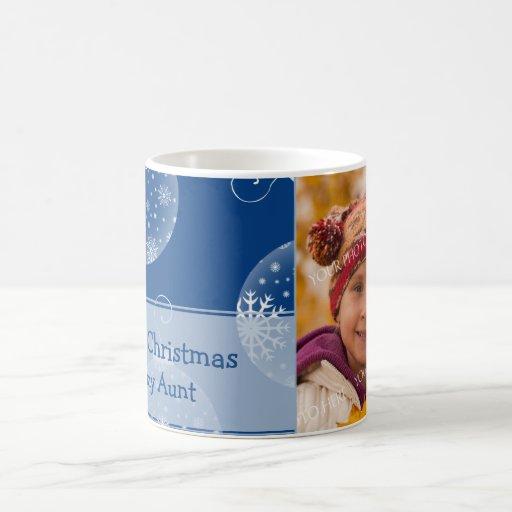Tía Mug de las Felices Navidad de los ornamentos Taza De Café