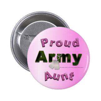 Tía orgullosa Button del ejército Pin Redondo De 2 Pulgadas