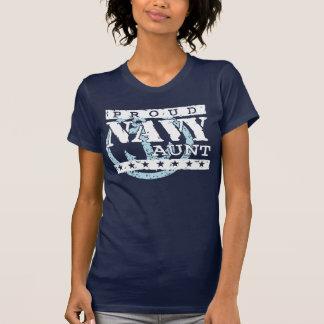 Tía orgullosa de la marina de guerra camiseta