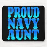 Tía orgullosa de la marina de guerra alfombrilla de ratón