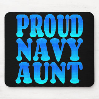 Tía orgullosa de la marina de guerra alfombrillas de ratón