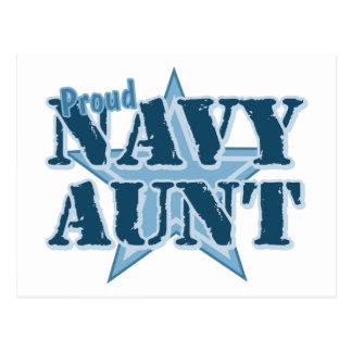 Tía orgullosa de la marina de guerra tarjetas postales